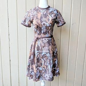 Vintage 1960s Psychedelic Floral Dress